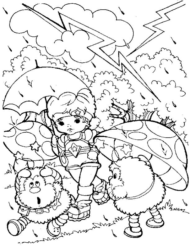 rainbow brite 25 coloring pages Pinterest Rainbow brite - rainbow template