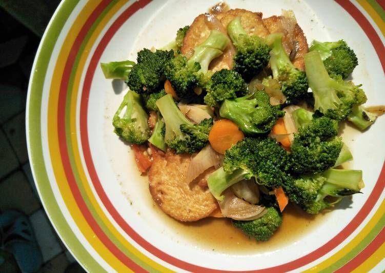 Resep Tumis Tofu Brokoli Wortel Oleh Dapoer Nada Resep Tahu Brokoli Tumis