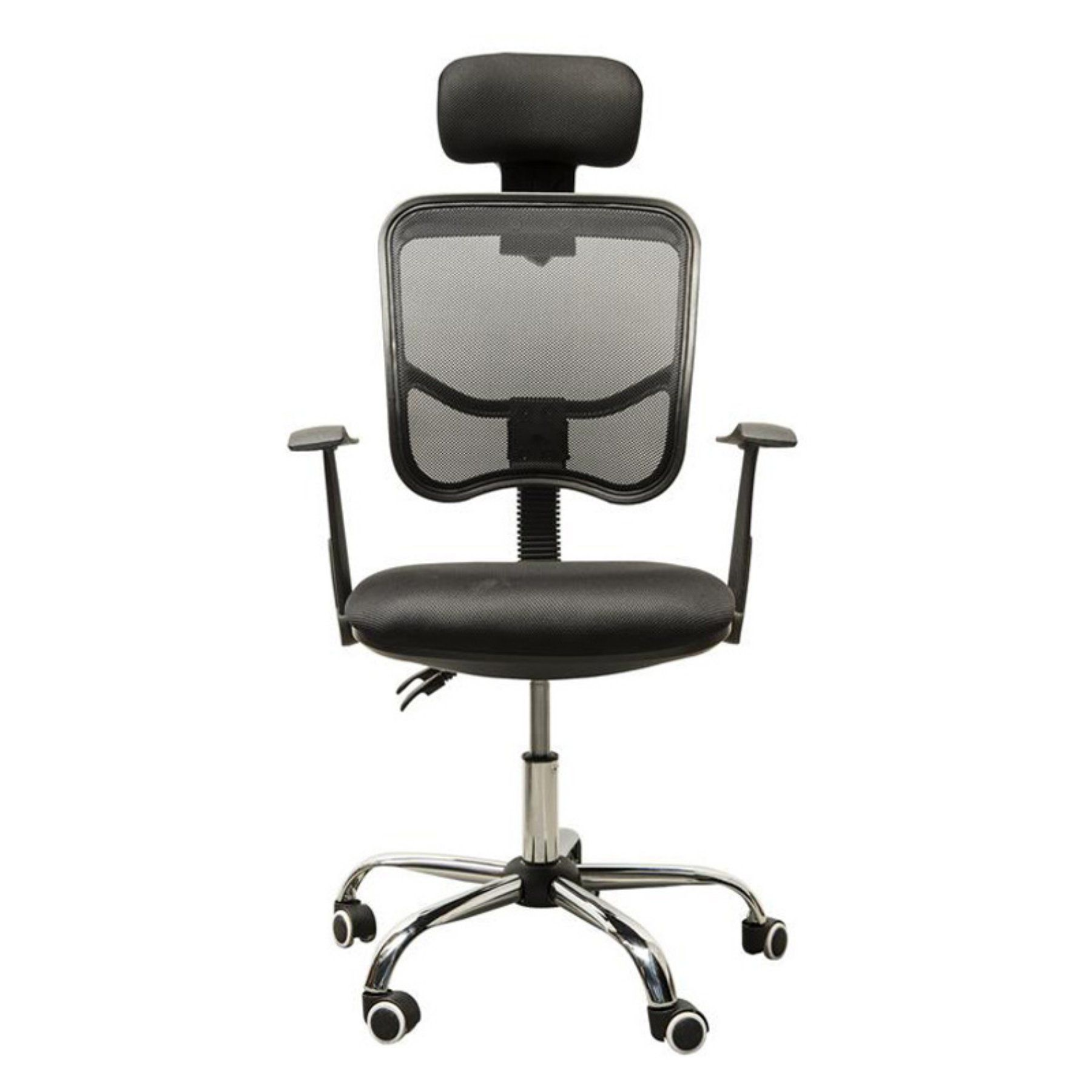 Adjustable mesh high back office chair with
