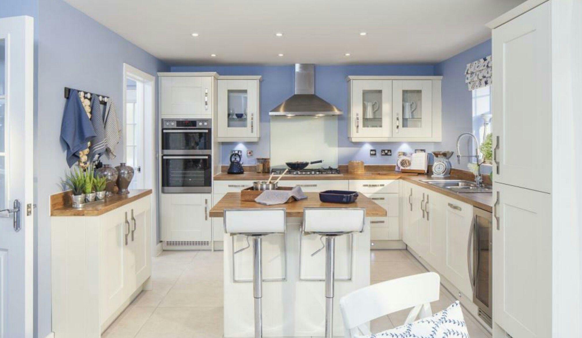 Coastal Theme Interior Designed Kitchen Dining Showhome in cream ...