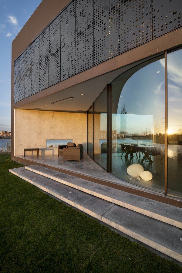 Villa Kavel Island Near Amsterdam Netherlands By - Amazing house built across a river