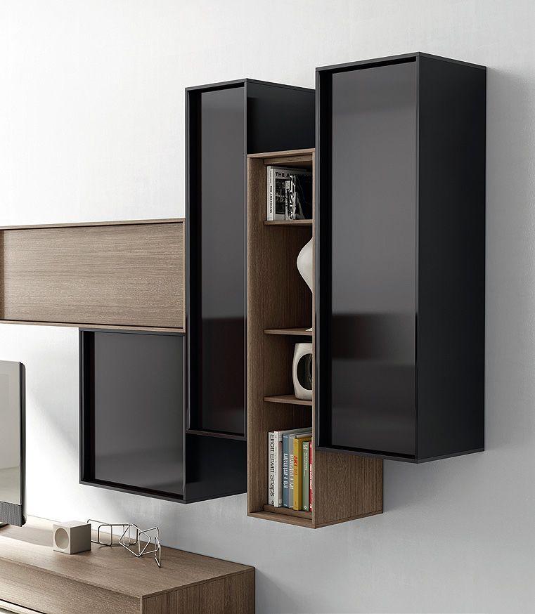 Sal n moderno con m dulos 1692 s16 muebles casanova for Modulos muebles salon