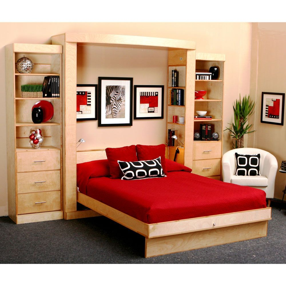 Has builtin side shelves in unit Euro Deluxe Wallbed