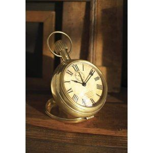 32989359fea3 Two s Company Timeless Treasure Pocket Watch Alarm Clock
