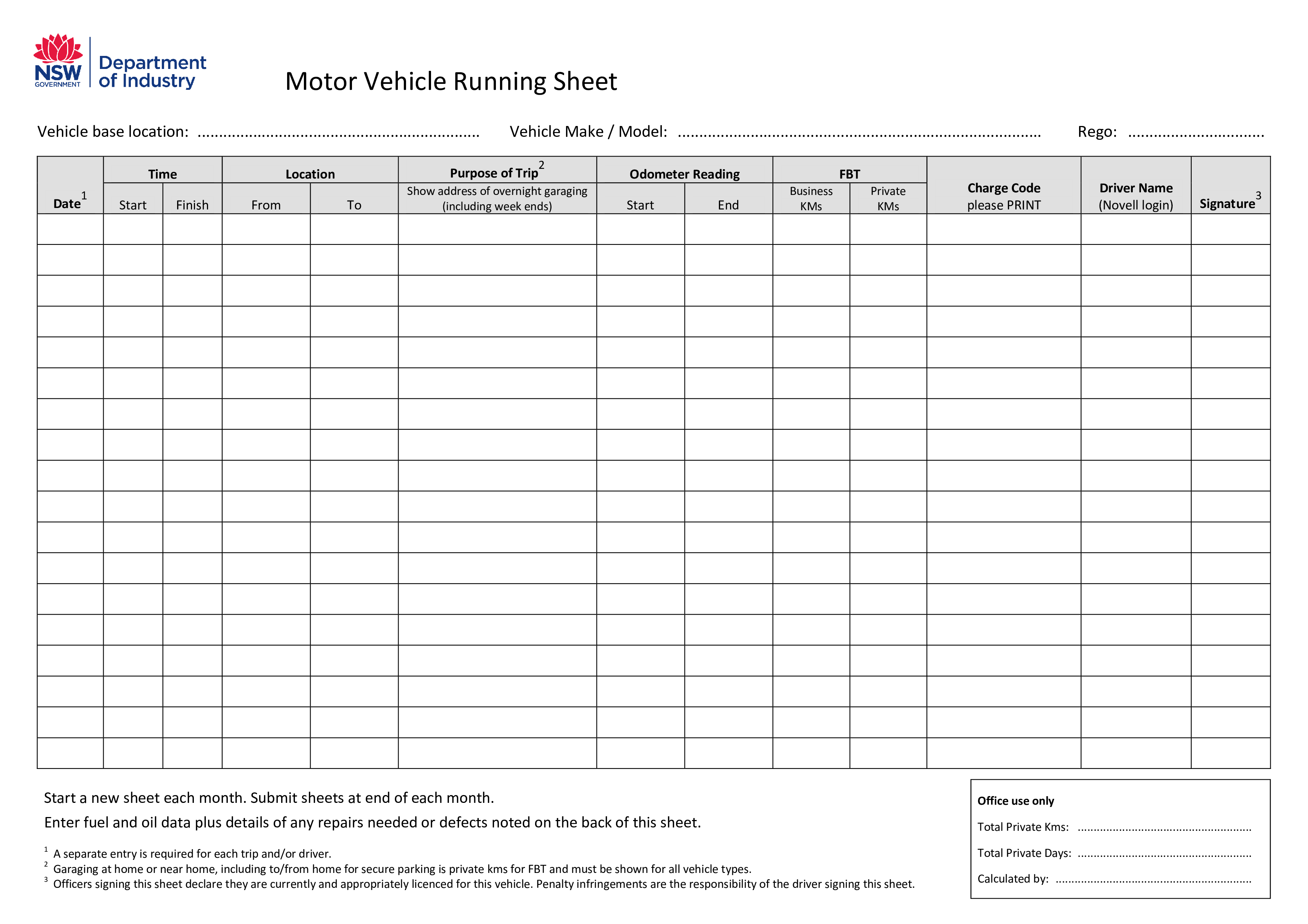 Running Sheet Motor Vehicle Running Sheet Pdf Easy To Download And Use Pdf Technology Template Templates Motor Car Vehicles