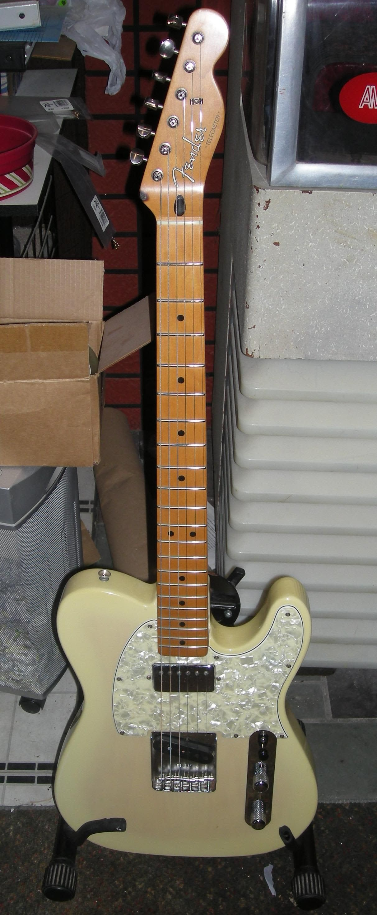 1995 fender mim telecaster special aged white blonde maple neck in