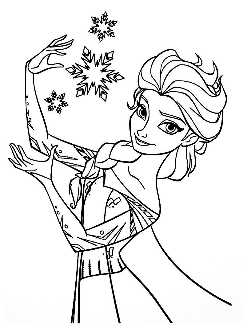 26 Précieux Reine Des Neige Coloriage Images  Snowflake coloring