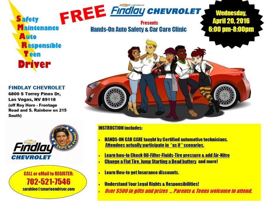 Our Next Smarteen Driver Event Is At Findlay Chevrolet April 20th