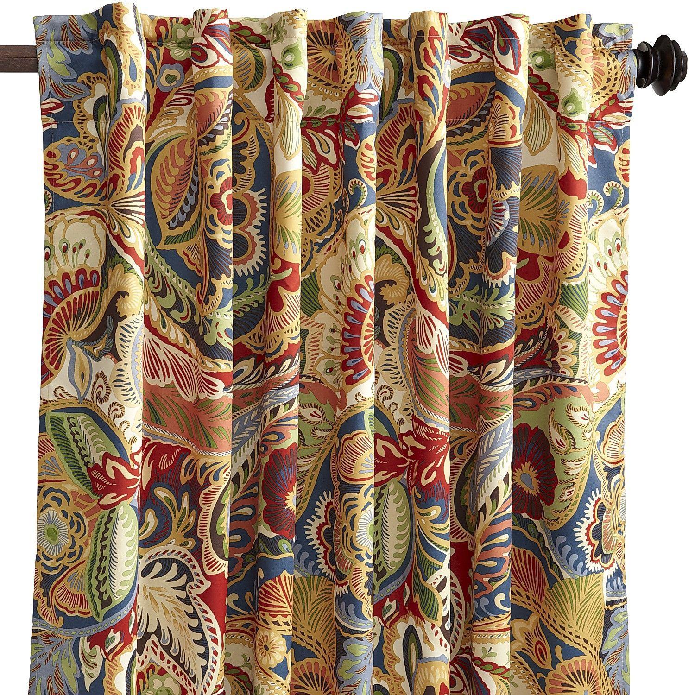 Vibrant Paisley Back Tab 96 Curtain