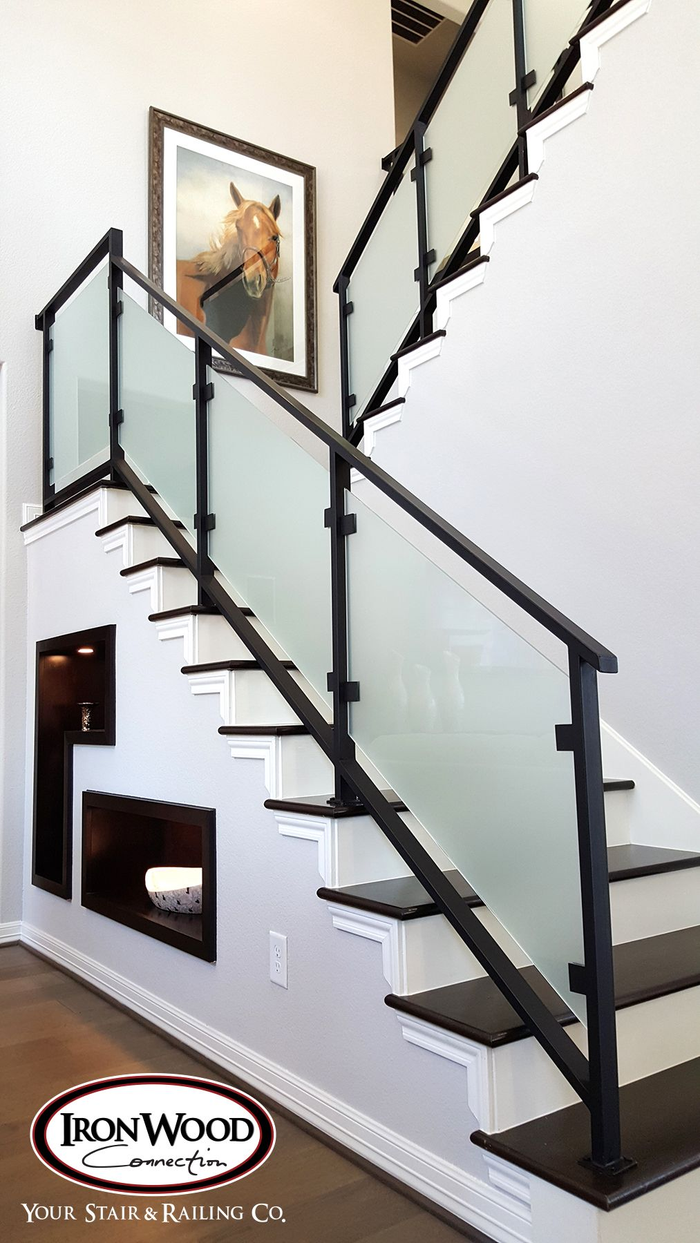 Glass Cable Railing Wrought Iron Stair Railing Iron Stair