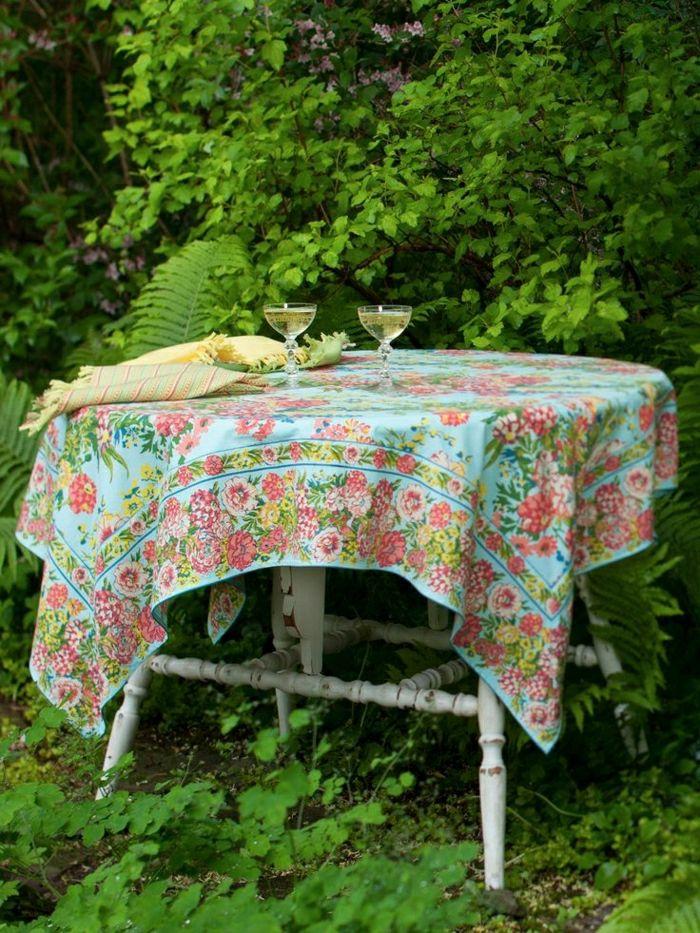 Garten-vintage-Tisch-Tischdecke-Leinen-shabby-chic-Stil | Dreamy ...