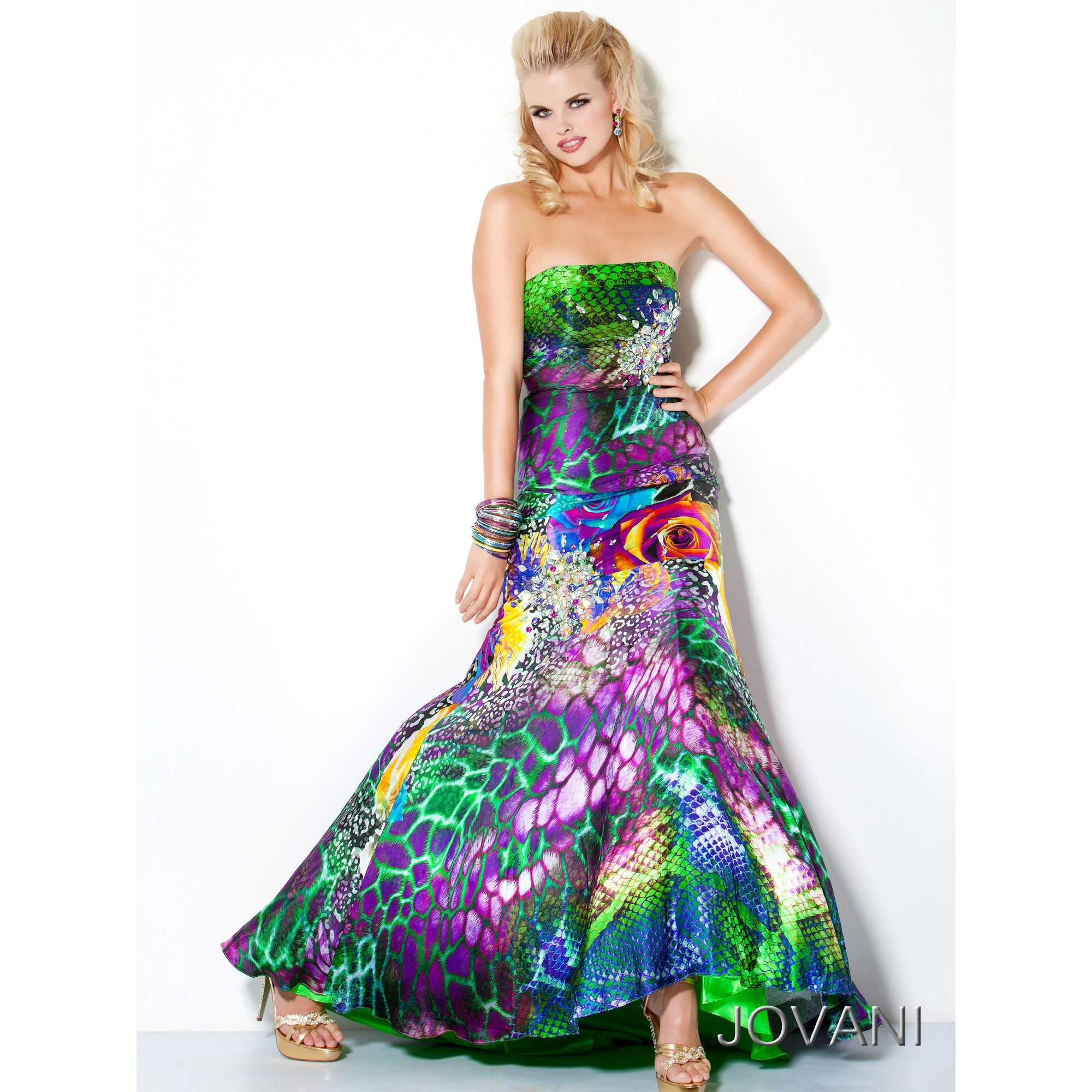Animal print prom dress jovani animal floral print prom dress