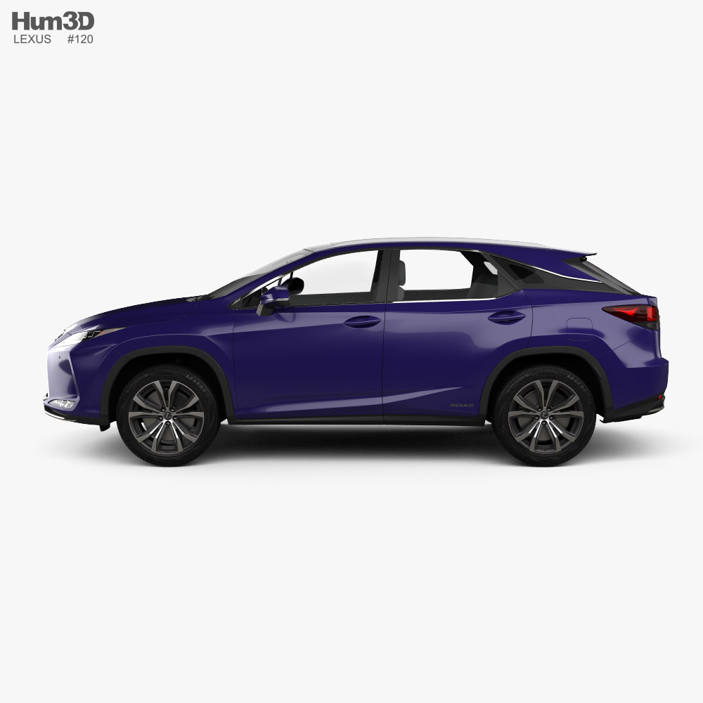 Lexus Rx Hybrid 2020 3d Model Vehicles On Hum3d In 2020 Lexus 3d Model Car 3d Model
