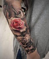 Photo of 50+ Magnolia Flower Tattoos | Kunst und Design Rose und Schmetterling Tattoo – 50+ Ma …