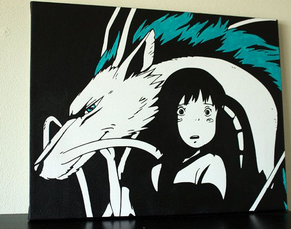 Spirited Away Canvas Art By Popcanvasart On Etsy 50 00 Anime Canvas Art Anime Canvas Miyazaki Art
