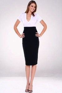 Black Halo High Waisted Pencil Skirt- Love this look! | My Style ...