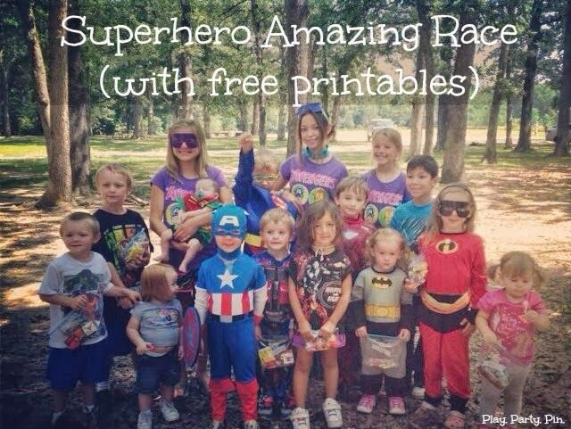 Superhero Amazing Race with free printables