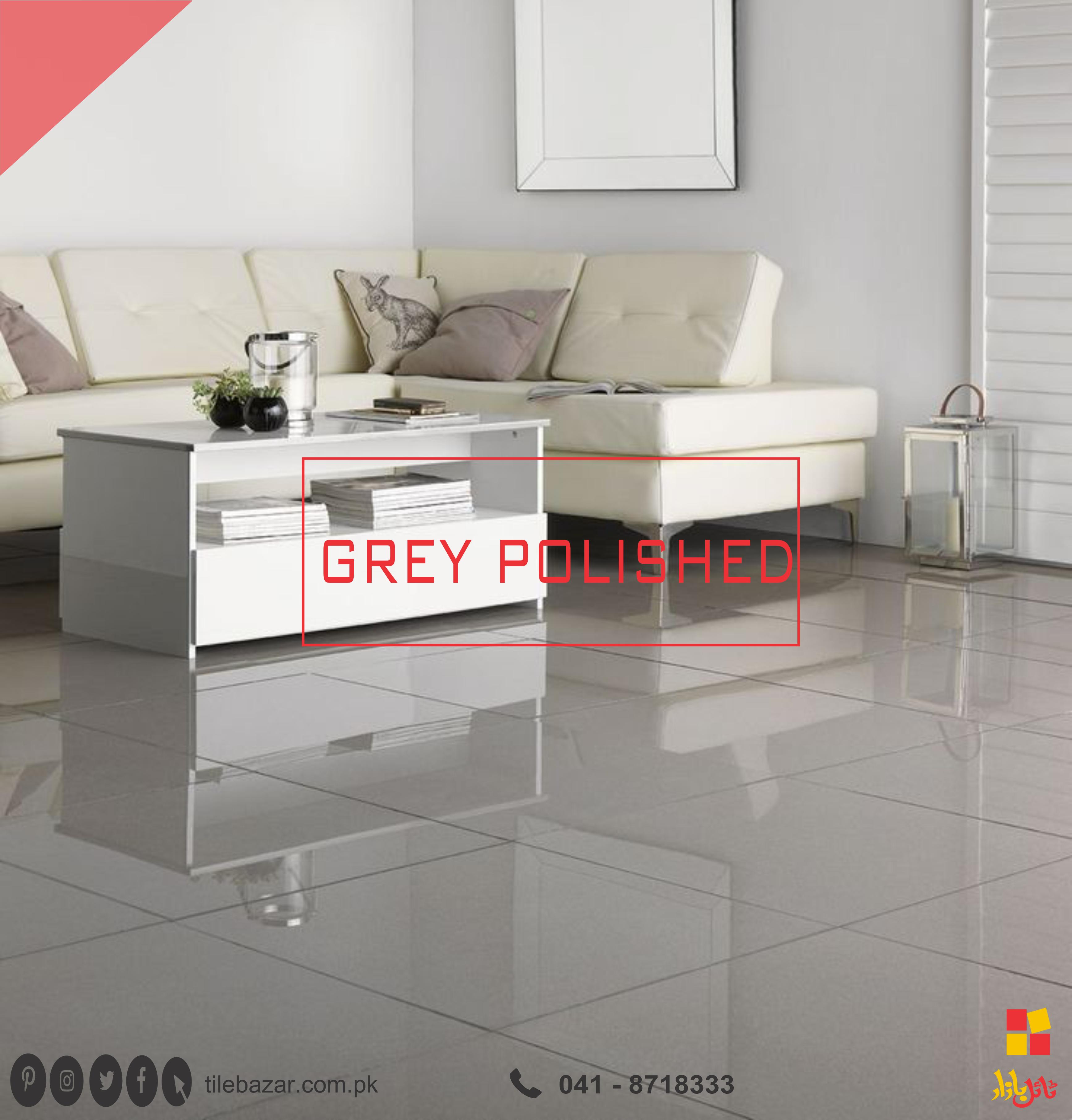 Grey Polished Porcelain Tiles For Your Livivg Room Visit Our Nearest Outlet For G Living Room Tiles Contemporary Home Office Furniture Tile Floor Living Room #porcelain #tiles #living #room