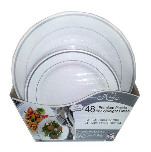 WNA Masterpiece Premium Plastic Heavyweight Plates 48 Ct WNA Http  sc 1 st  tagranks.com & Extraordinary Masterpiece Premium Plastic Heavyweight Plates Photos ...