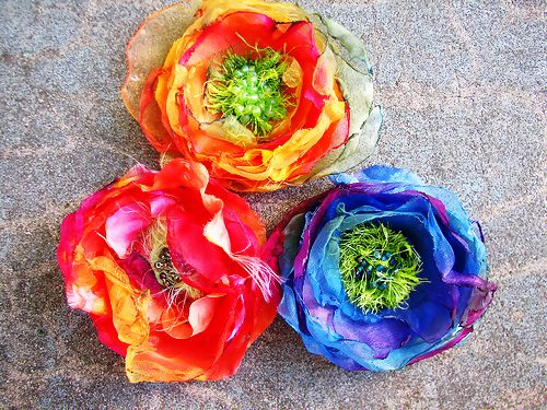 How+To+Make+Chiffon+Flowers+#howto+#tutorial