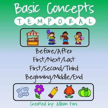 Temporal Concepts:Printable, ready to use worksheets to target basic ...