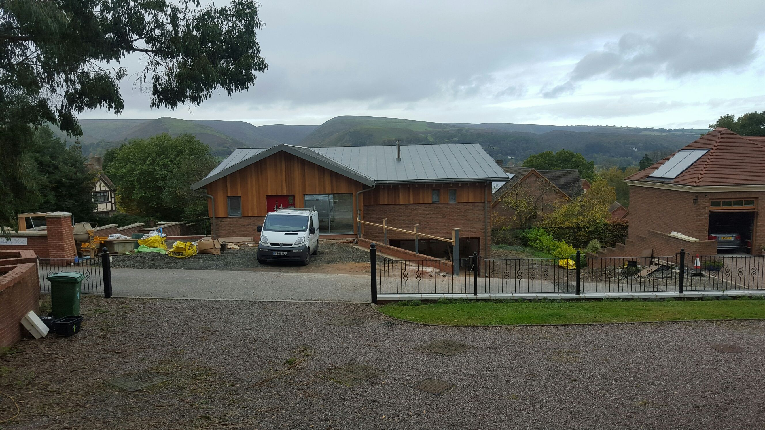 The #Shropshire house is nearing completion - landscaping and decoration are underway.