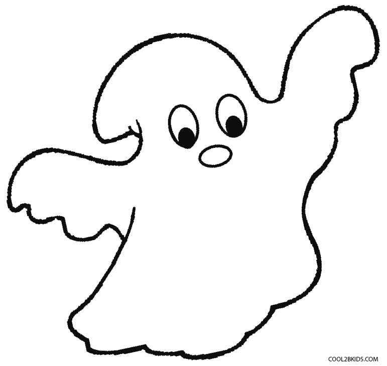 Ghost Printable Coloring Pages