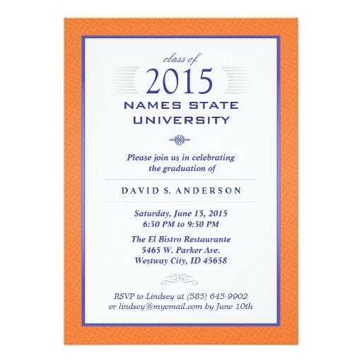 elegant blue gold photo graduation announcement  classy flats, 5 x 7 invitation cards, 5 x 7 invitation cardstock