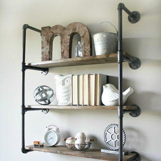 Wohnzimmer Regal Industrial: 26 Stylische Möbel Aus Rohrverbindern