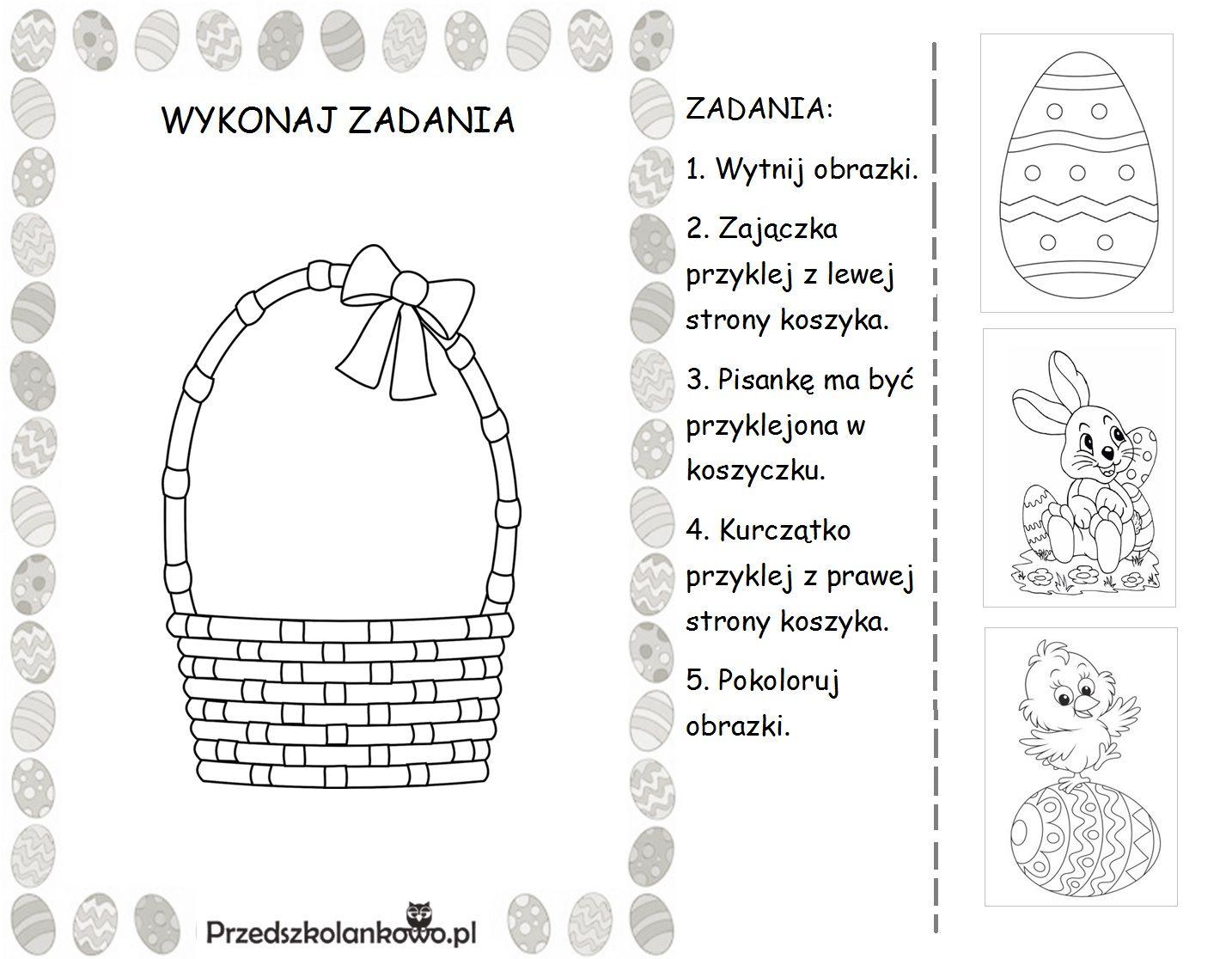 Wielkanocne Karty Pracy Zestaw 1 Przedszkolankowo Easter Preschool Diy And Crafts Crafts