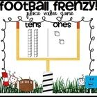 Football Frenzy Common Core Aligned Place Value Game:  Standards: K.NBT.1 and 1.NBT.2    Students draw a card, build that number on their place value ...