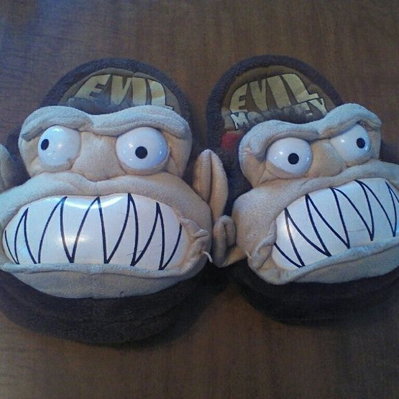 aa20f589cf70b0 Family Guy Evil Monkey slippers Size 7/8 wide. Have been worn but no holes  or stains on them. There are a few marks on the mouth but I will clean them.