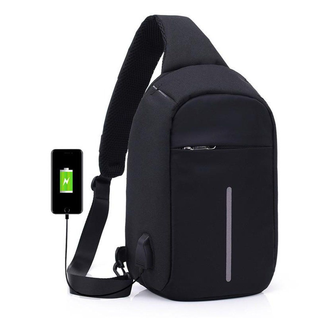 External USB Charge Casual Chest Bag Men Messenger Bags Small Bags Travel Backpack CrossBody Shoulder bag