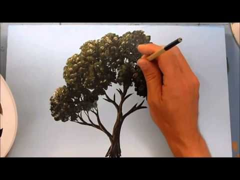 Pintar paisaje con acrílicos , Painting landscape with acrylics - YouTube