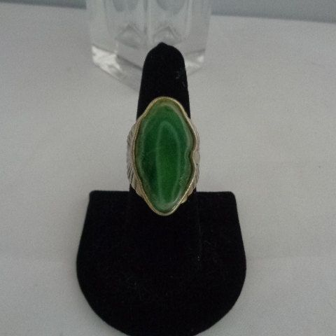 Vintage Statement Ring  $14.99 featuring a Jade Stone Size 7 by CCCsVintageJewelry on Etsy