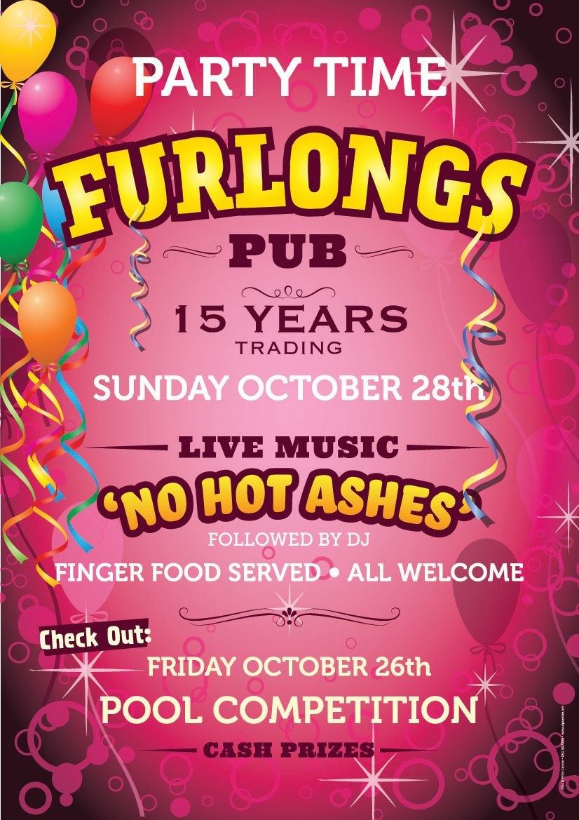 A1 Posters For Furlongs Bar 15th Anniversary 15th Anniversary