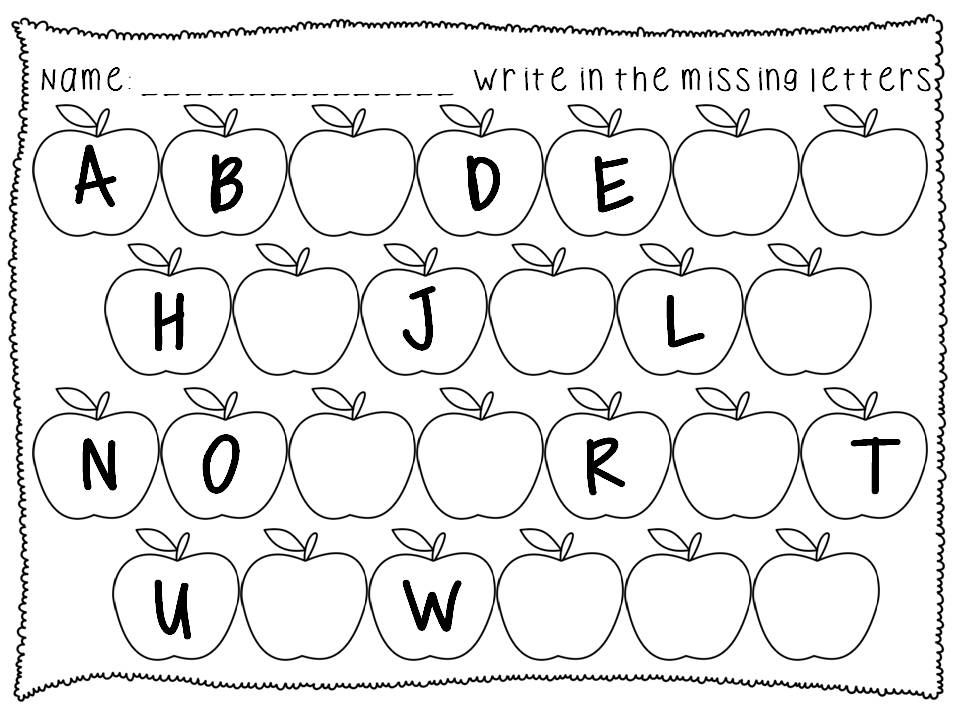 Alphabet Sequence Printables Fall Theme Prek K First With