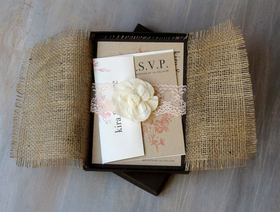 17 Best images about rustic wedding invites – Rustic Lace Wedding Invitations