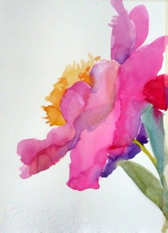 Floral Gestures Workshop Day One Flower Art Watercolor Flowers