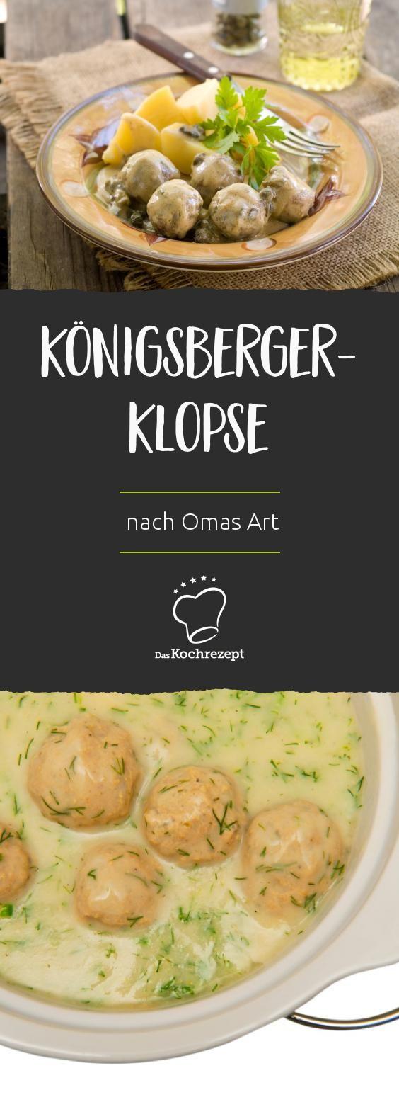 k nigsberger klopse nach omas art rezept in 2019 food. Black Bedroom Furniture Sets. Home Design Ideas