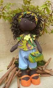 Resultado de imagem para boneca africana em tecido