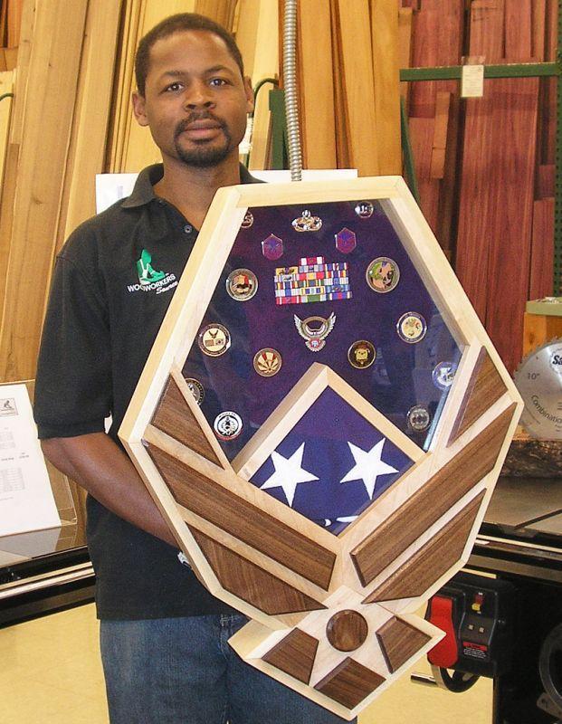 Air Force Wings Shadow Box and Flag Case Diy shadow box