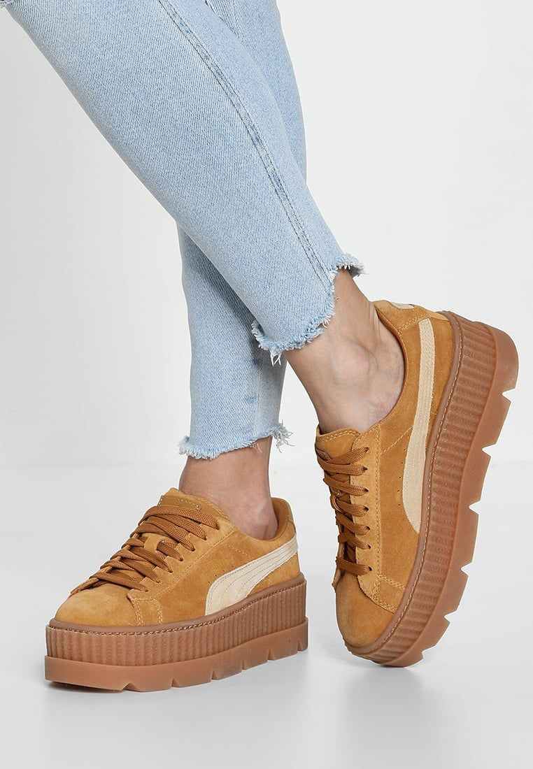 CLEATED CREEPER SUEDE Sneakersy niskie golden brown