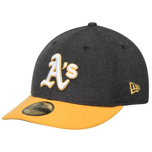Men s Oakland Athletics New Era Anthracite Gold Change Up Low Profile 59FIFTY  Fitted Hat 99ff13d46e55