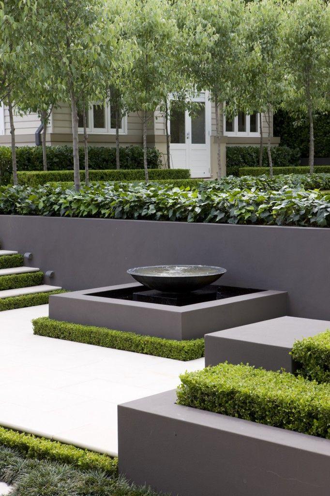 Water feature Contemporary Garden Have Pinterest Jardín - jardines modernos