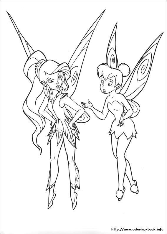 Tinkerbell coloring picture Disneyu0027s Fairies Coloring Fairies - best of big tinkerbell coloring pages