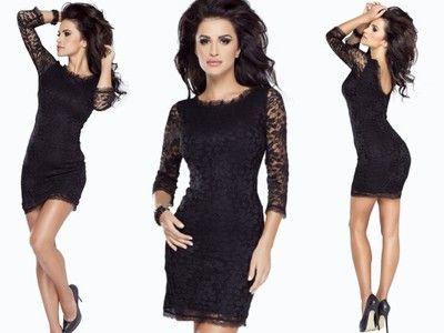Kup Teraz Na Allegro Pl Za 159 90 Zl Mini Seksowna Dopasowana Czarna Koronkowa Sukienka 6008168283 Allegro Pl Radosc Fashion Little Black Dress Dresses