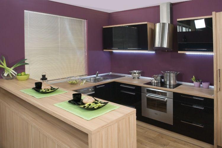 15+ Couleur mur cuisine noir et bois ideas