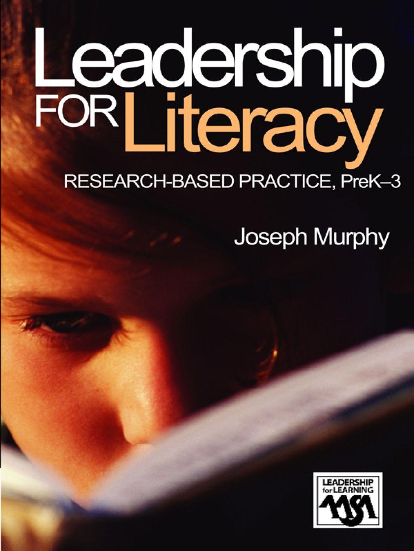 Leadership for literacy ebook rental leadership