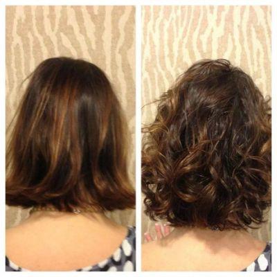 Short Permed Hair Before And After Short hair cuts en